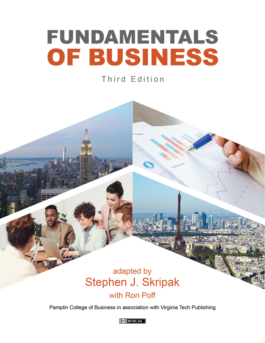 Cover image for Fundamentals of Business, 3rd edition