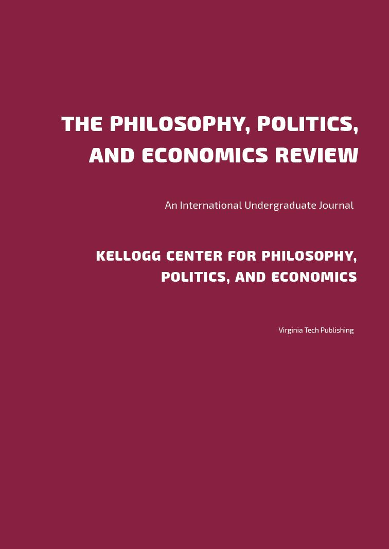 Cover image for The Philosophy, Politics, and Economics Review